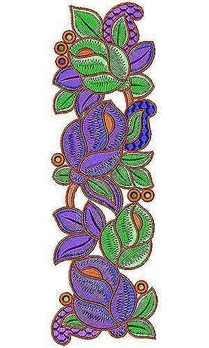 Karnataka zari border embroidery design repujado