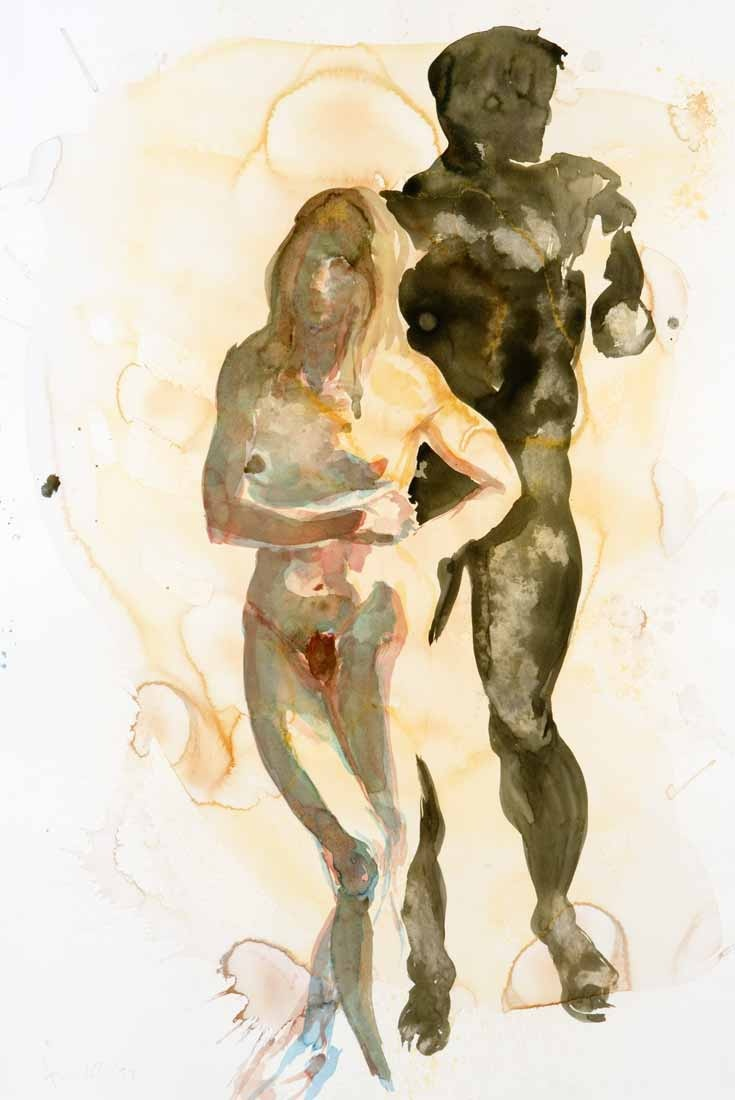 Watercolor artist magazine review - Today We Take A Look At This Beautiful Series Of Both Abstract And Figurative Watercolor Work By Renowned Painter Eric Fischl That Spans From About