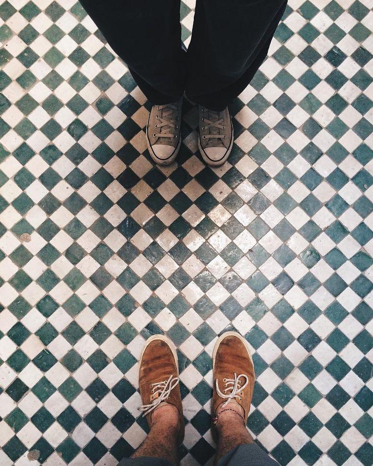 @gi.cam and I had already fallen in love with Marrakech and its wonderful floors!  #Marrakech #Mughamara #Morocco #islam #muslim #backpacker #floor #instafloor