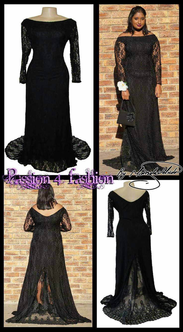 Fully laced black matric dance dress. With sheer long ...