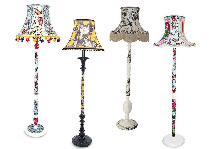 Upcycled Vintage Standard Lamps