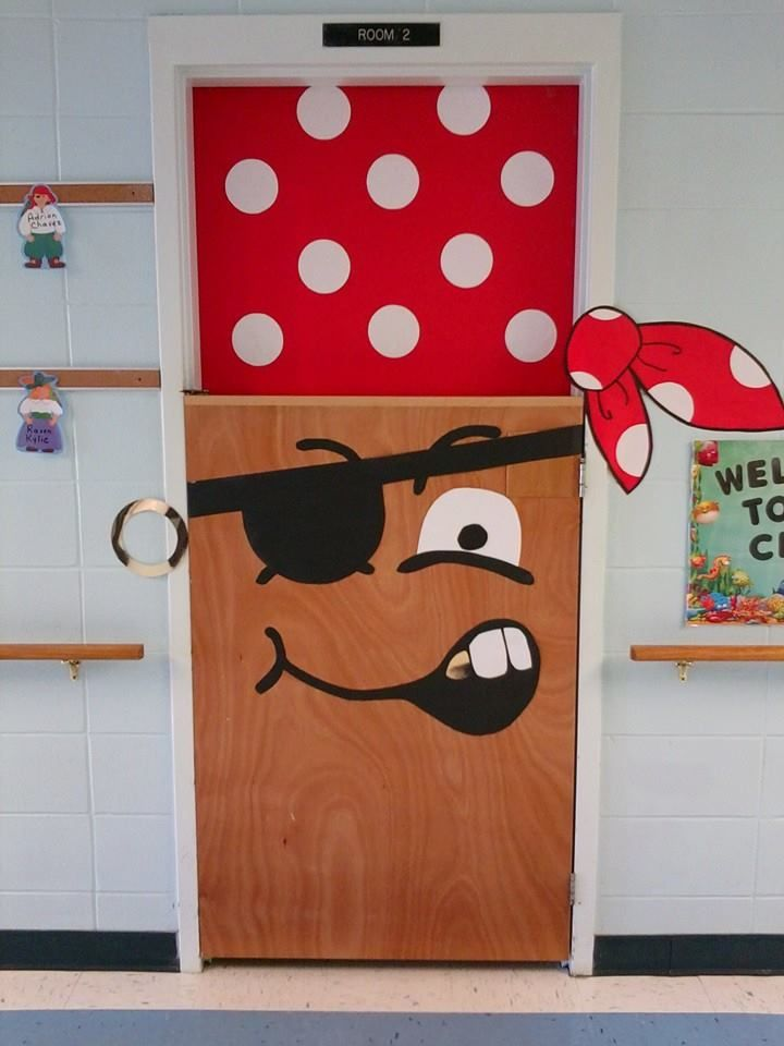 Pirate door at the BCLC - Arrrggggg!!- halloween