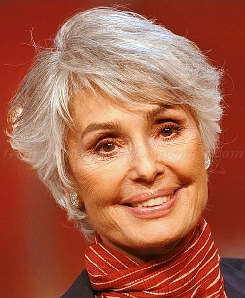 short hairstyle for gray hair I'll keep this for down the road if my hair gets gray totally.