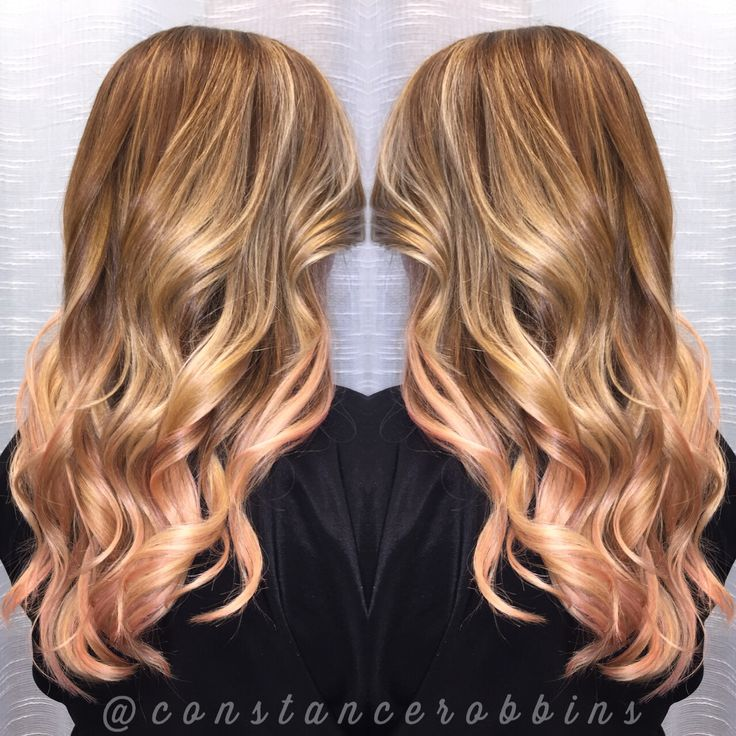 Rose Gold And Blonde Balayage By Constance Robbins Hair
