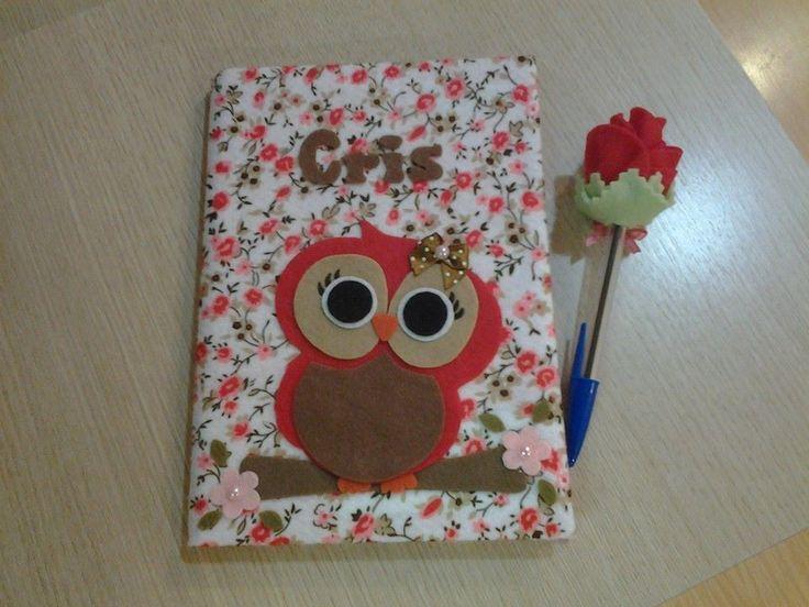Cuadernos Decorados Con Papel De Colores Imagui