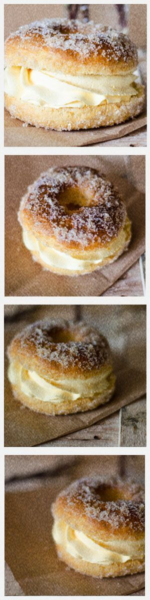 """BAKED """"DONUTS"""" WITH CHANTILLY CREAM"""