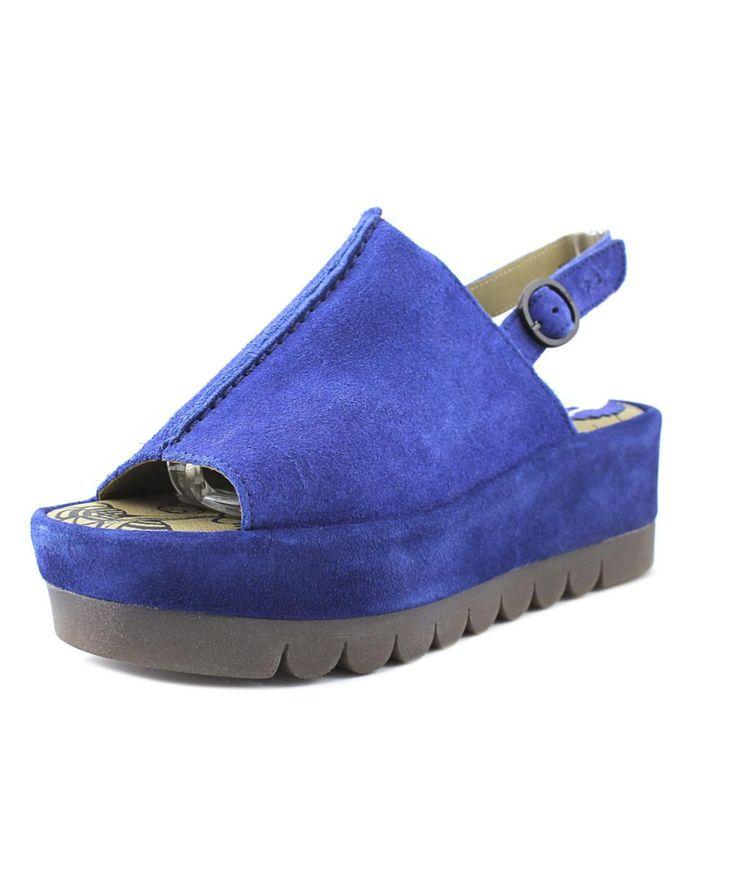 FLY LONDON | Fly London Bora Women  Open Toe Suede Blue Platform Sandal #Shoes #Pumps & High Heels #FLY LONDON