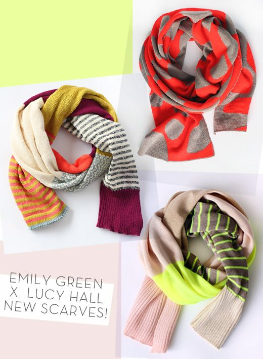 Scarves by Emily Green and Lucy Hall