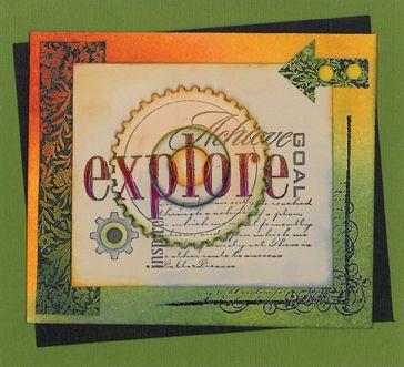 Stamp-it Australia: 4302E Explore, 4223E Swirl Corner, siset036 Leafy Pattern - Card by Susan