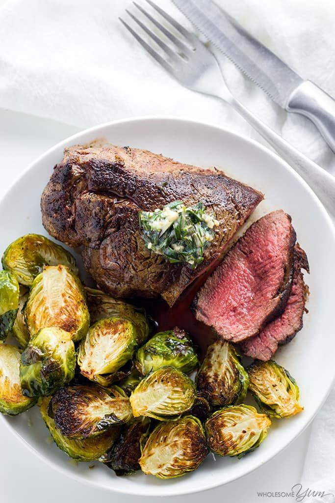 Best Filet Mignon Recipe with Garlic Herb Butter (Beef Tenderloin) - Learn how to cook the best filet mignon - pan seared in a cast iron skillet and finished in the oven. It's unbelievably easy and takes just 15 minutes!
