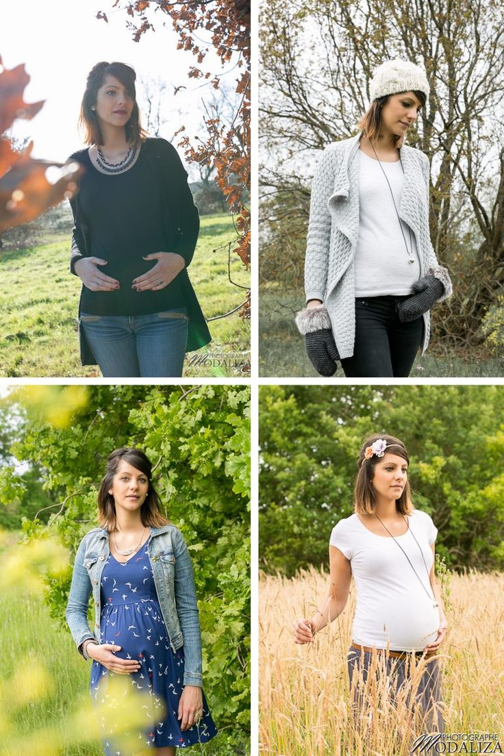evolutif grossesse quatre saisons pregnant evolution automne hiver printemps ete 4 seasons winter spring summer autumn enceinte nature by Modaliza.fr