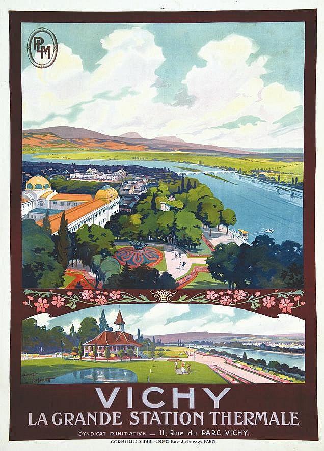 PLM - Vichy,  la grande station thermale - vers 1920 - (Maurice Toussaint) -