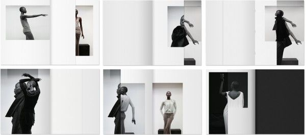 Rick-Owens' Lookbook Layout: angles, volume, geometric
