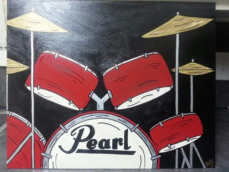 Pearl drumset canvas painting