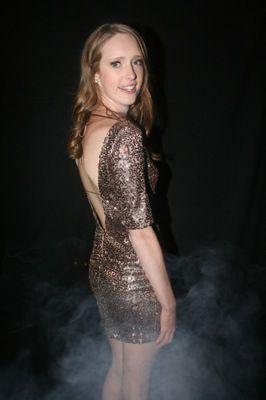 Bronze sequined 21st Birthday dress