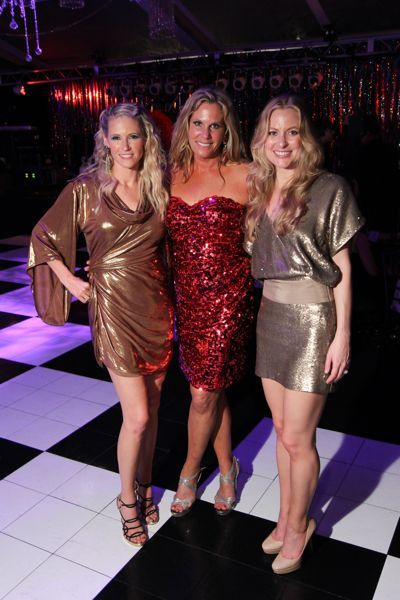 Studio 54 party. The black and white dance floor looks great and we love those sexy, shiny dresses. See more ideas for Studio 54 party fashion at www.sparklerparties.com/studio-54