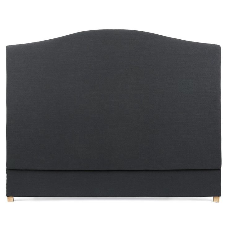 The Milan Wave Bedhead King Size Charcoal