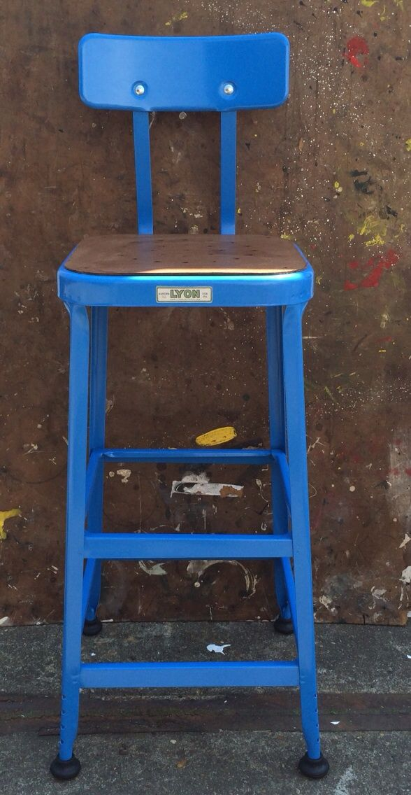 Monday Blues - Add a touch of #bright #blue. #lyonbarstool #styling #interior #decoration