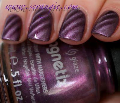 Magnetic nailpolish: Love Nails, Magnets Polish, Nails Art, Magnets Nailpolish, China Glaze, Magnets Nails, Purple Nails, Polish Instructions, Nails Polish
