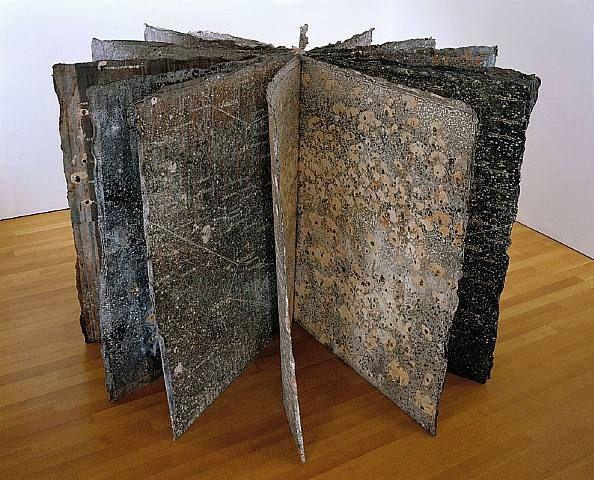 "Anselm Kiefer's ""book"" from paper ponderings."