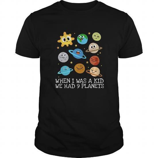I Love Astronomy Tshirt When I Was A Kid We Had 9 Planets Astronomy Tshirt Shirts & Tees