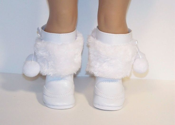 WHITE Snow-Santa Boots Removable Faux Fur Doll Shoes For 18 American Girl (Debs) | Dolls & Bears, Dolls, Clothes & Accessories | eBay!