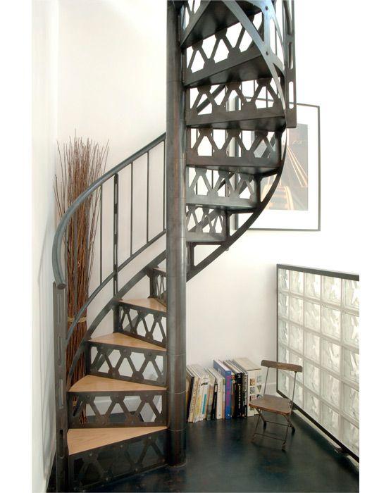 Escalier bois metal on Pinterest  Bespoke, Metal screen and Metals ~ Escalier Helicoidal Bois Metal