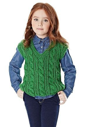 Colete verde Lã Seda