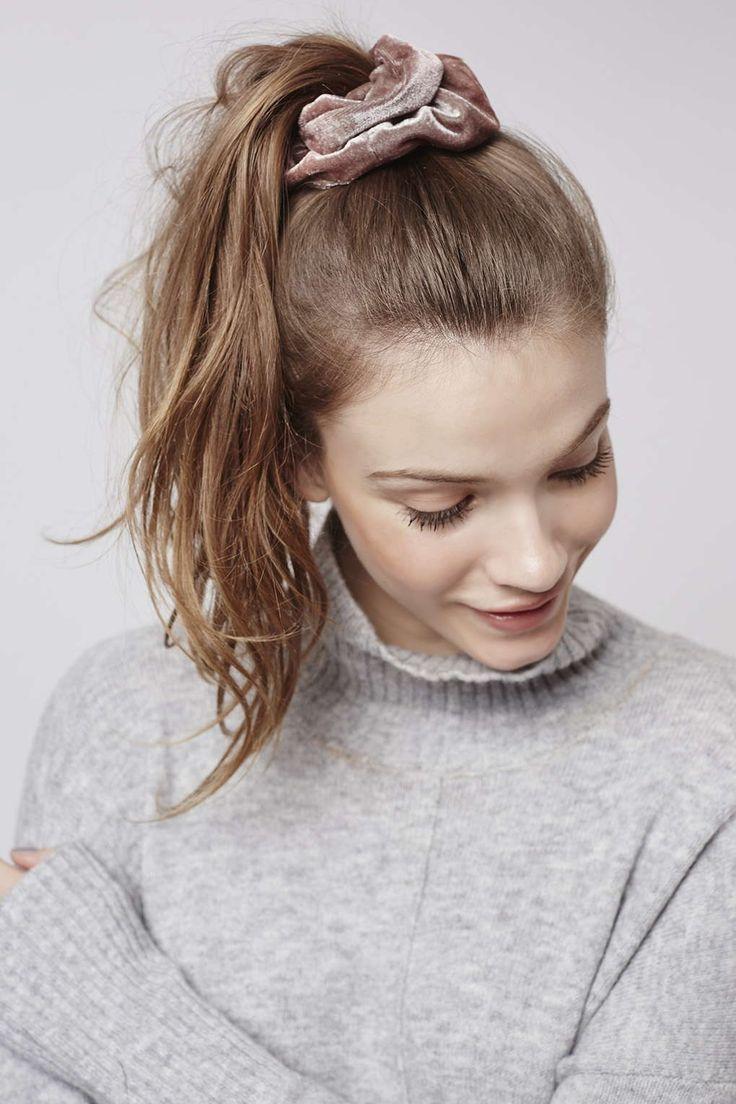 90s Scrunchie Hairstyles: Photo 2 Of Velvet Scrunchie