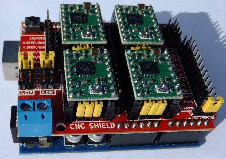 Kit Cnc Shield V3 4 Drive A4988 Arduino Uno R3 Ch340g - R$ 139,90