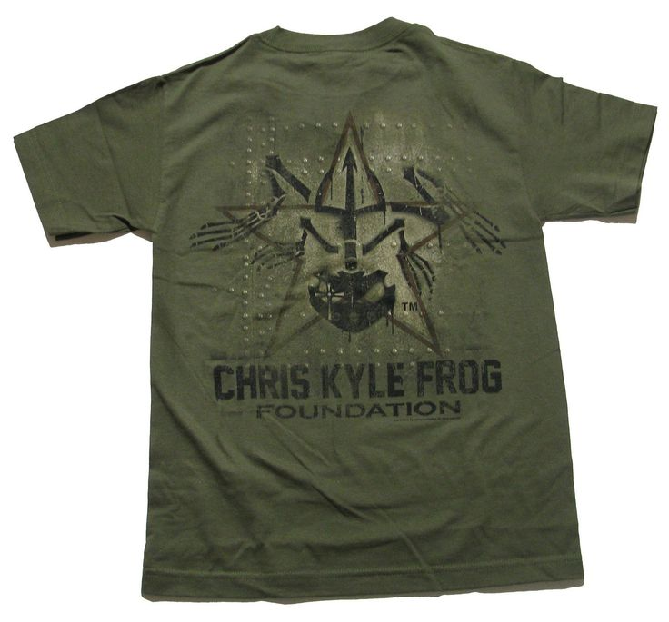 """Unique Clothing featuring the """"American Sniper"""" Chris Kyle Frog - Officially Licensed Apparel for Men, Women and Youth - T-Shirts. About Chris Kyle Frog: Navy SEAL Chris Kyle was sent to Iraq with onl"""