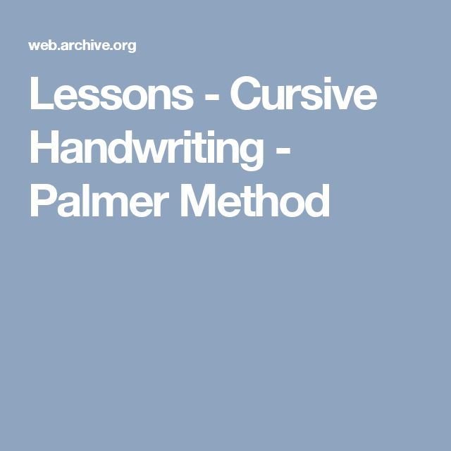 "palmer method cursive writing Handwriting just doesn't matter by anne  mr drake believes ""cursive writing identifies you as much  it was replaced by the palmer method,."