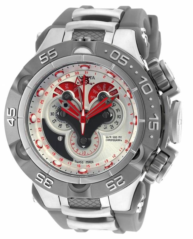 Invicta Mens Watch 18531 Subaqua Quartz Multifunction Antique Silver Dial