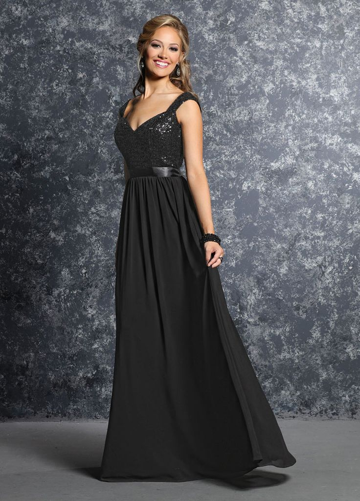 Long Black Bridesmaid Dresses With Sleeves | www.pixshark ...