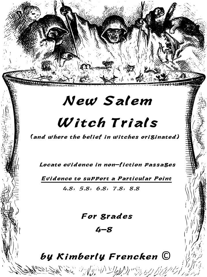 New Salem Witch Trials Task Cards Task cards, Teachers
