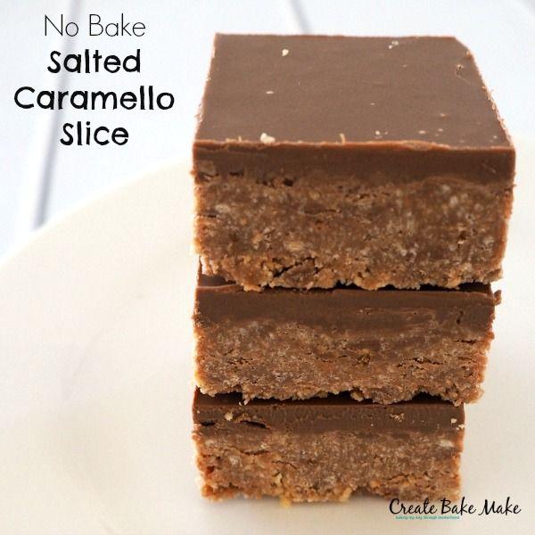 No Bake Salted Caramello Slice