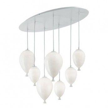 Nowoczesna lampa wisząca z serii Clown - producent Ideal Lux. #ideal_lux #clown #lampa_wisząca #design #interior #wnętrze #oświetlenie #lampy #lampy_kraków #abanet_kraków