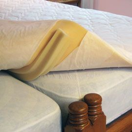 """DIY """"Sleep Number Bed"""": Just use two twin mattresses (i.e. one soft and one firm) together on a king-sized bed frame and voilà! , a custom made bed that you can both agree on."""