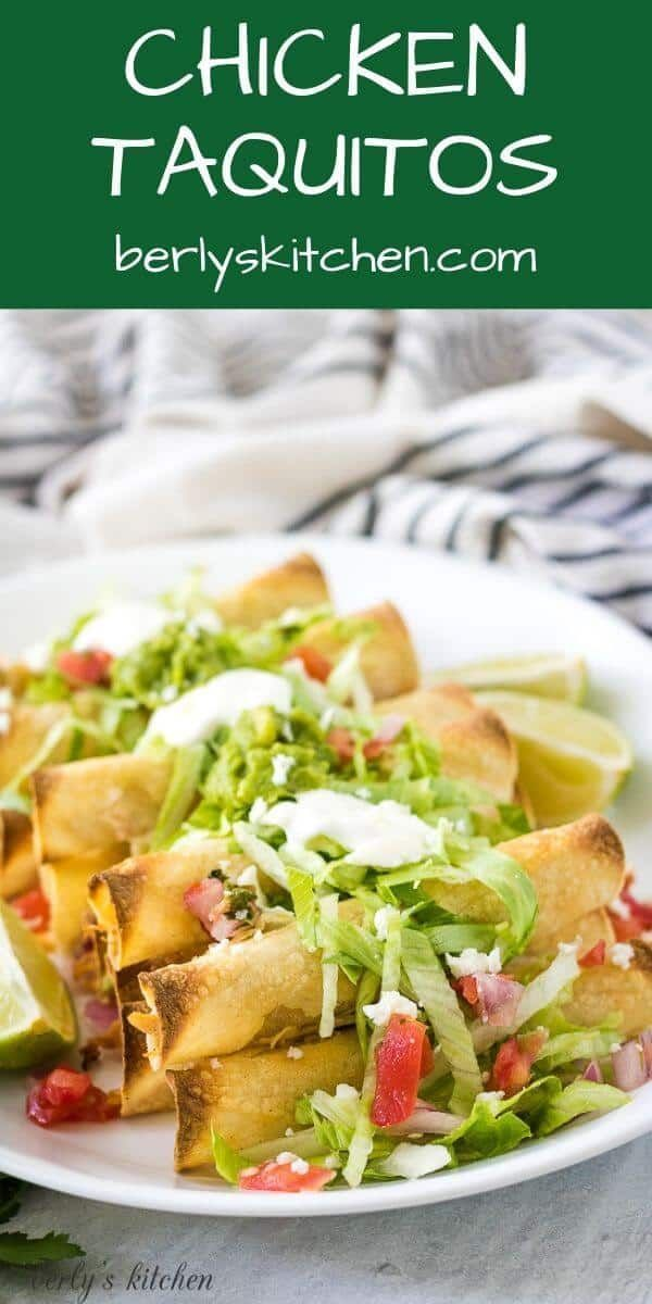 Baked Chicken Taquitos Recipe In 2020 Recipes Cooking Recipes Baked Chicken