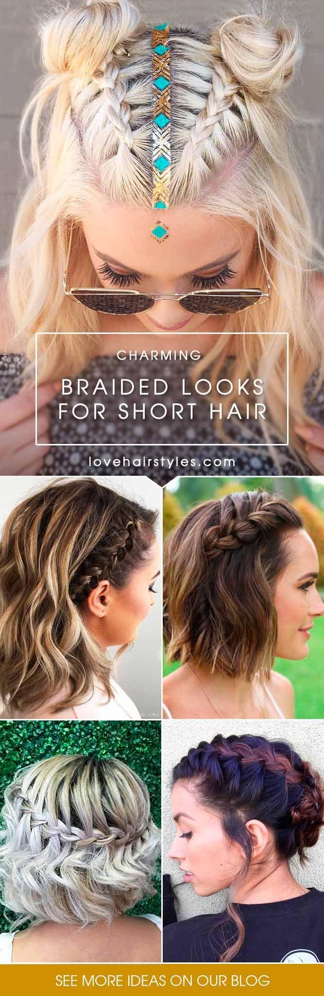 Best 25+ Braided short hair ideas on Pinterest | Braids for short ...