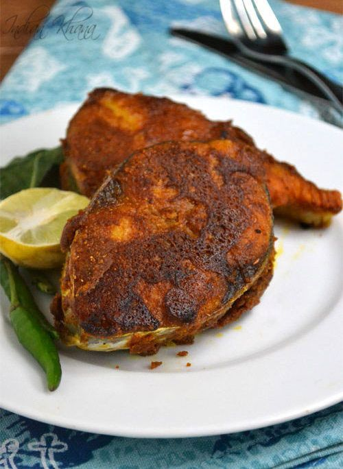 Besan Fish Fry Recipe or Pan Fried Fish with Chickpeas Flour works great as a side or starter.