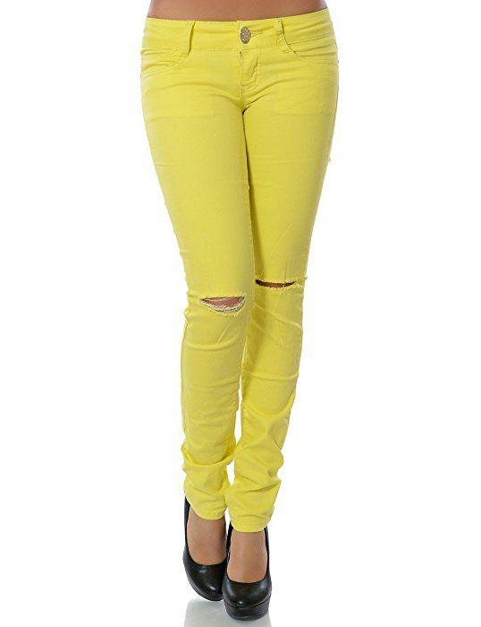 Damen Jeans Hose Skinny (Röhre weitere Farben) No 13916, Farbe:Türkis;Größe:36 / S