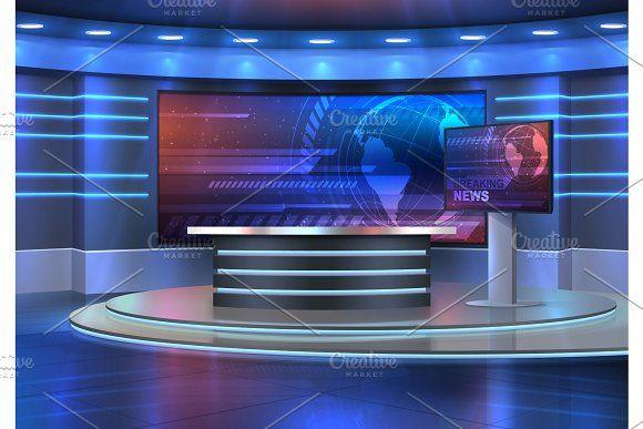 Studio Interior News Broadcasting Studio Interior Studio Interior News studio background hd 1080p