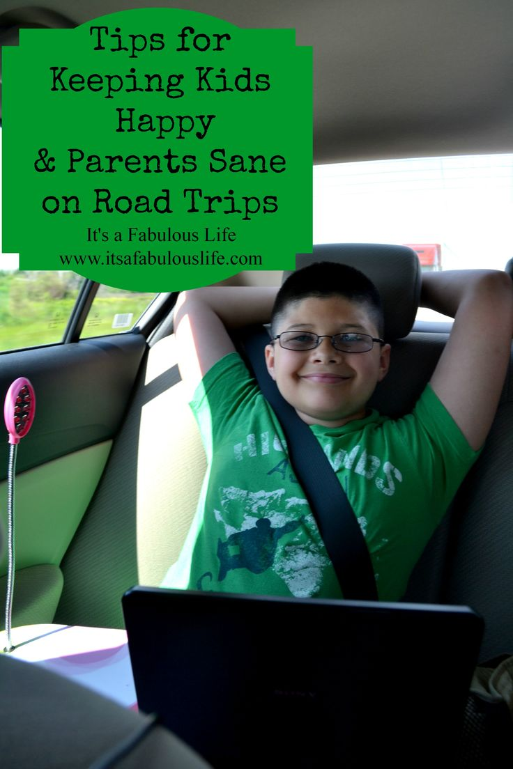 Tips for Keeping Kids Happy & Parents Sane on Road Trips - Awesome ideas!  MUST remember for our next road trip!!
