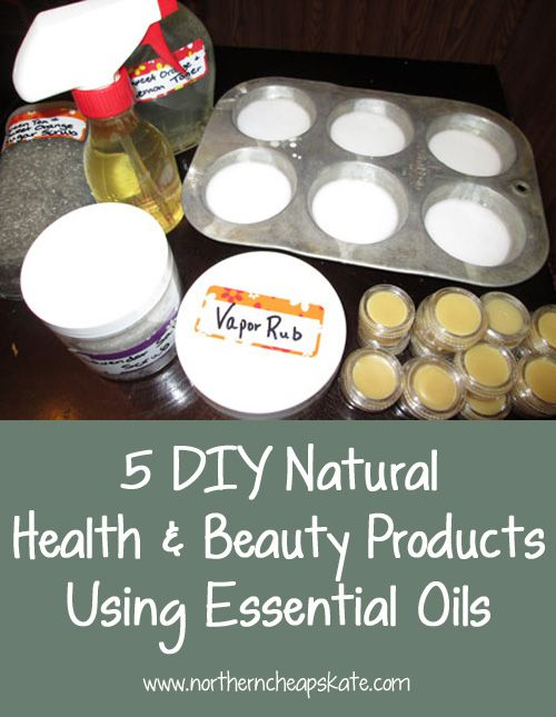 Skip all the chemicals you can't pronounce and try making your own health & beauty products using essential oils.