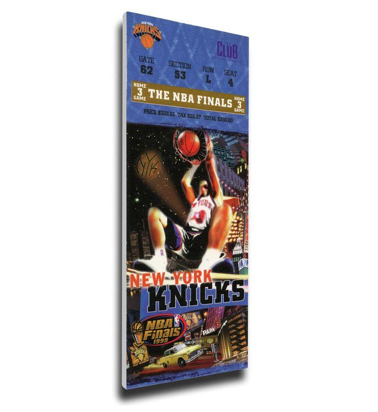 New York Knicks Wall Art - 1999 NBA Finals Canvas Mega Ticket, Game 5