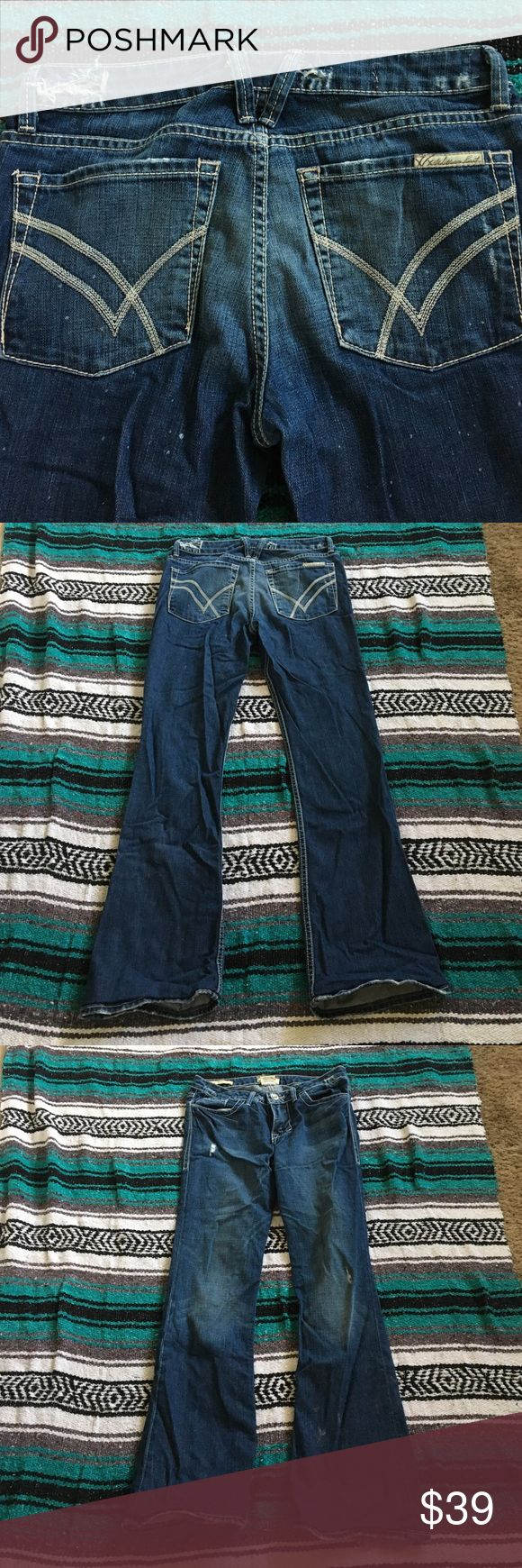 "EUC William Rast jeans Stella bootcut 26 short These are so cute. Factory distressing. No signs of wear. Hemmed with euro fold hems. Inseam 30"". Size 27. William Rast Jeans Boot Cut"