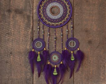Dream catcher Brown and blue dream catcher Gypsy by MyHappyDreams