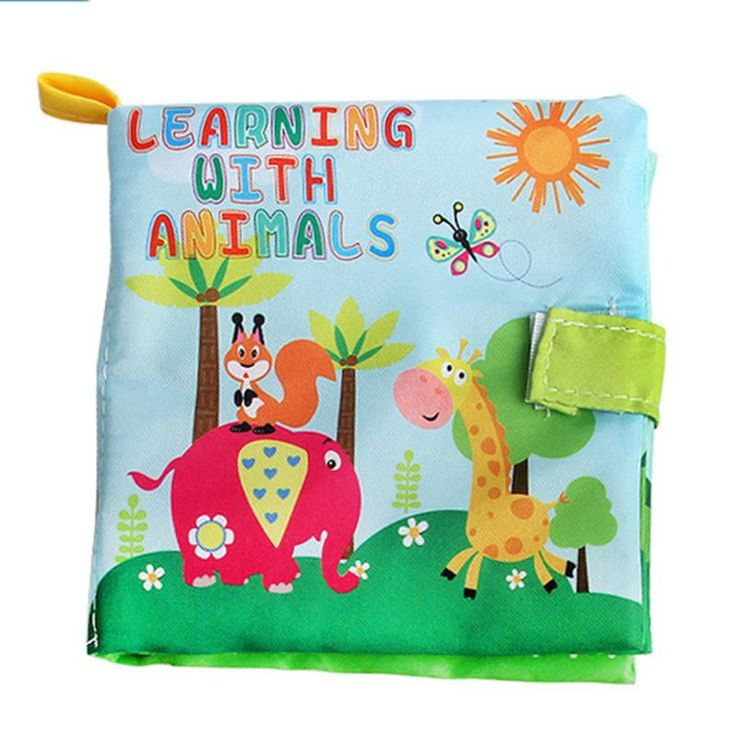 New Design 4 Styles Baby Intelligence Development Learning Colorful Picture Cloth Book For Children Early Education Supplies