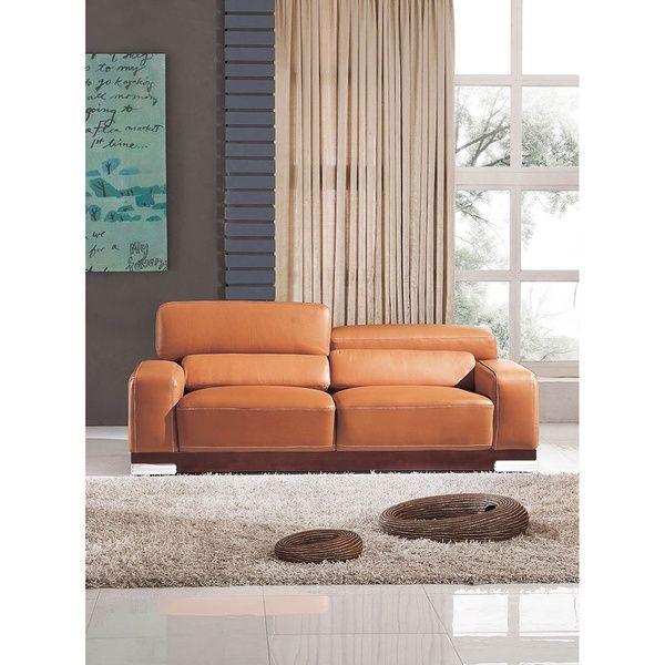 Sofa Tables Luca Home Contemporary Honey Italian Leather Sofa